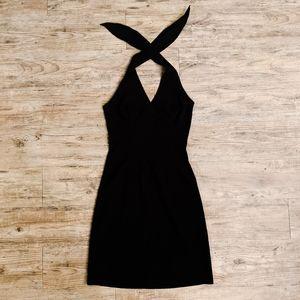 Make OFFER   SVETLANA Dark Green Halter Top Dress